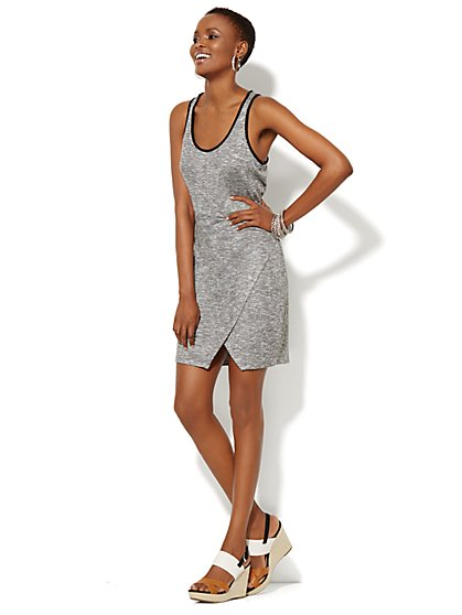 Lounge - Faux-Wrap Tank Dress - New York & Company