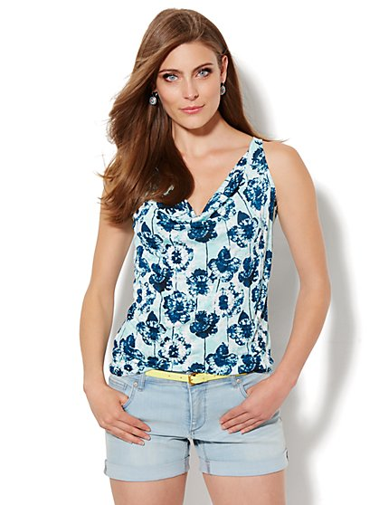 Lounge - Floral Batik Halter Top  - New York & Company