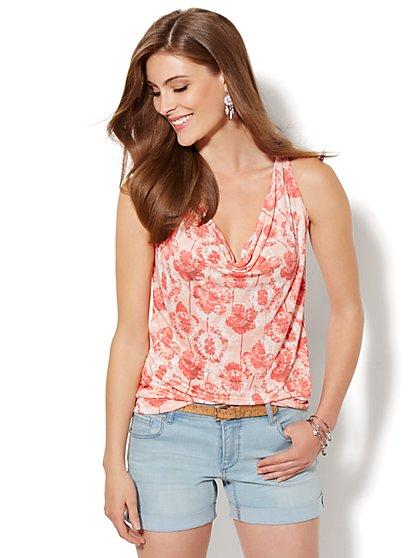 Lounge - Floral Batik Halter Top  - New York & Company