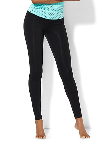 Lounge Legging - Polka-Dot Waistband  - New York & Company