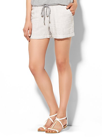 Lounge - Linen Short - Stripe  - New York & Company