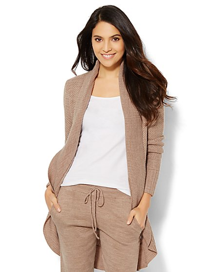 Lounge - Link-Stitch Cocoon Sweater  - New York & Company