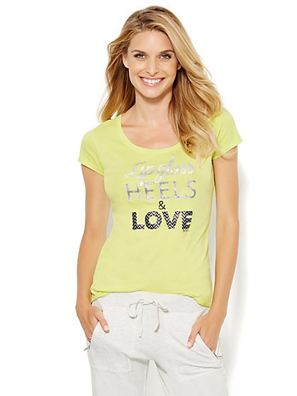 Lounge - Lip Gloss, Heels & Love Tee  - New York & Company