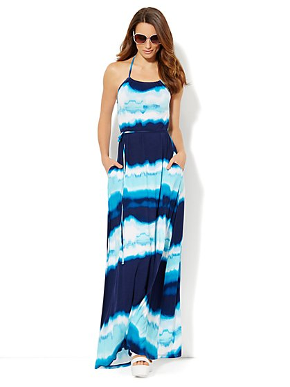 Lounge - Maxi Halter Dress  - New York & Company