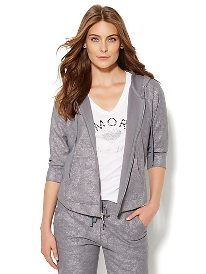 Lounge - Metallic Hoodie  - New York & Company