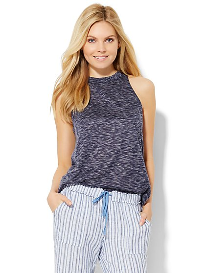 Lounge - Mock-Neck Tank Top  - New York & Company