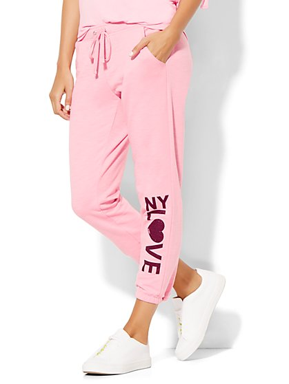 Lounge - Montauk Beach Pant - Cropped - Pink  - New York & Company