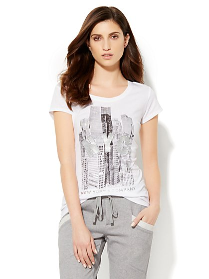 Lounge - NYC Skyline Tee - New York & Company