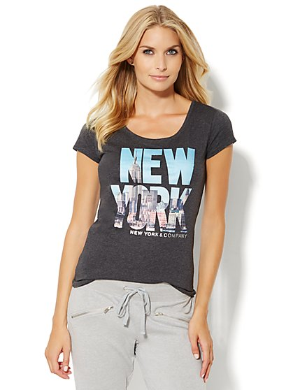 Lounge - New York City Skyline Tee  - New York & Company