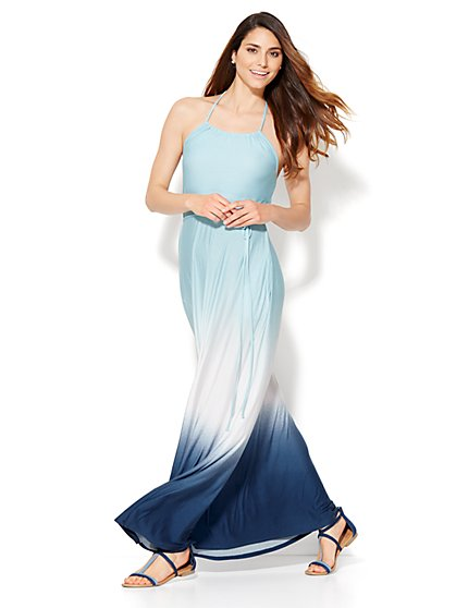 Lounge - Ombré Halter Maxi Dress  - New York & Company