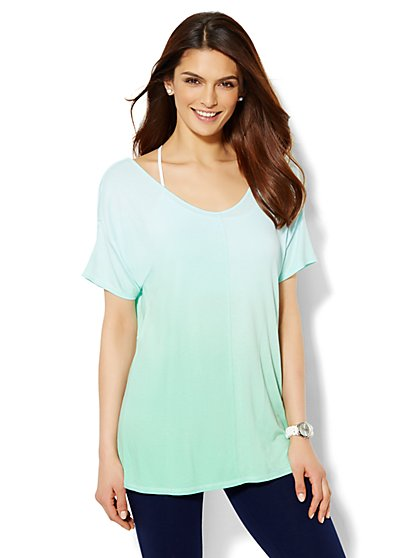 Lounge - Ombre Back-Drape Top  - New York & Company