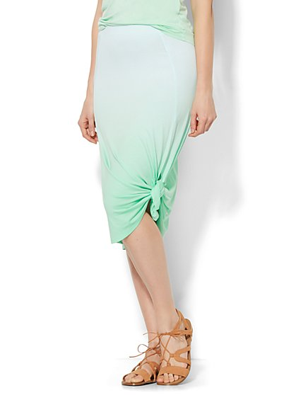 Lounge - Ombre Tie-Detail Skirt  - New York & Company