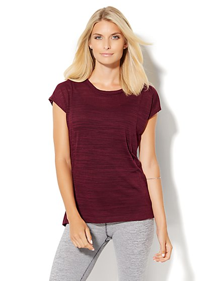 Lounge - Open-Back Hi-Lo Tee  - New York & Company