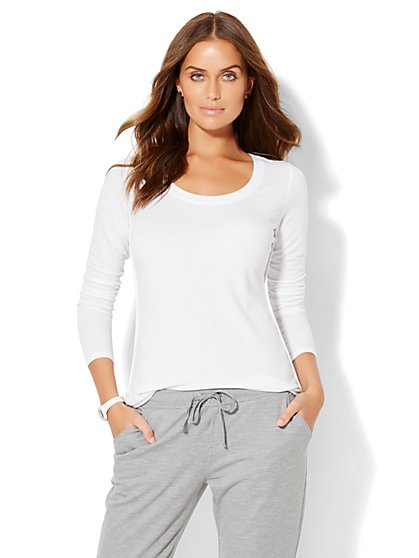 Lounge - Overlapping Side Seam Top  - New York & Company