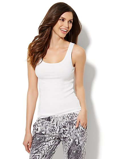 Lounge - Ribbed Tank Top  - New York & Company