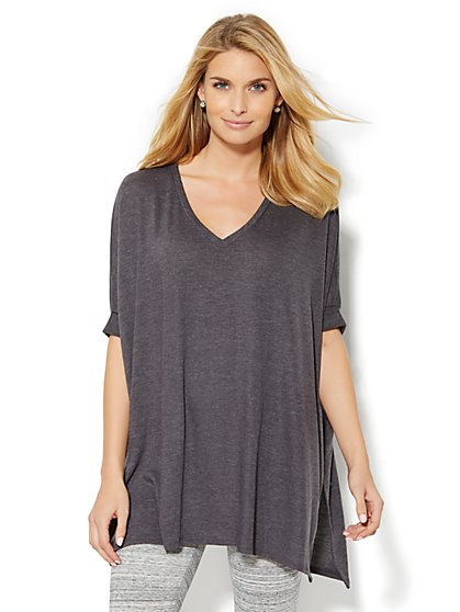 Lounge - Sharkbite Seamed Tunic  - New York & Company