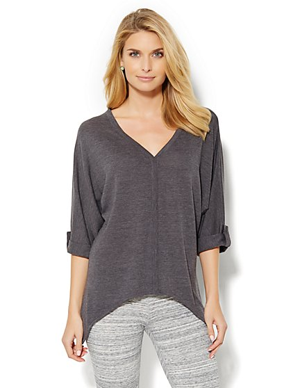 Lounge - Sharkbite V-Neck Tunic Top  - New York & Company