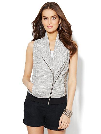Lounge - Shawl-Collar Moto Vest  - New York & Company