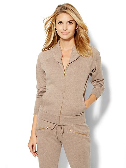 Lounge - Shawl Collar Zip-Front Jacket  - New York & Company