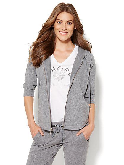 Lounge - Shirttail Hoodie  - New York & Company