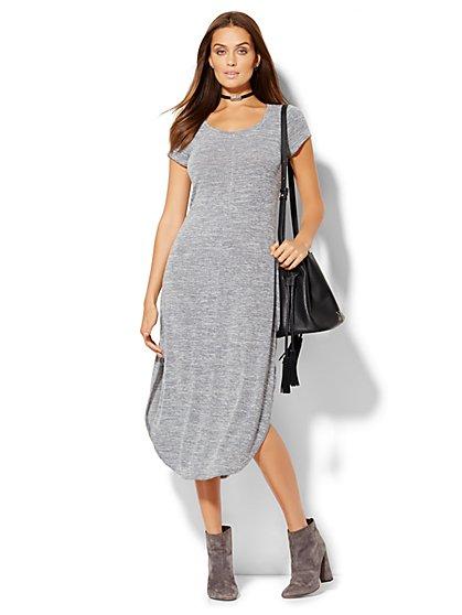 Lounge - Shirttail T-Shirt Dress  - New York & Company