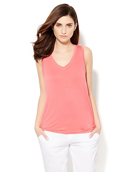 Lounge - Side-Knot Tank Top - New York & Company