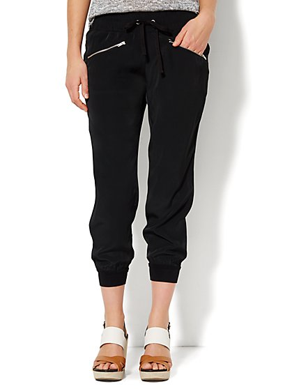 Lounge - Silky Crop Jogger - New York & Company