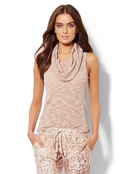 Lounge - Sleeveless Cowl-Neck Top - New York & Company