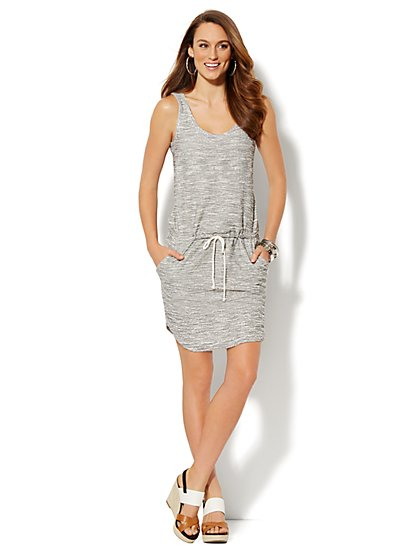 Lounge - Sleeveless Dress - Heathered - New York & Company