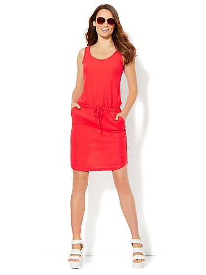 Lounge - Sleeveless Dress - Solid  - New York & Company