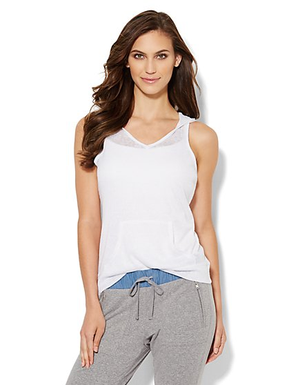 Lounge - Sleeveless Hoodie - New York & Company