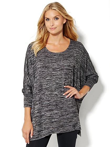 Lounge - Space-Dye Dolman Top  - New York & Company