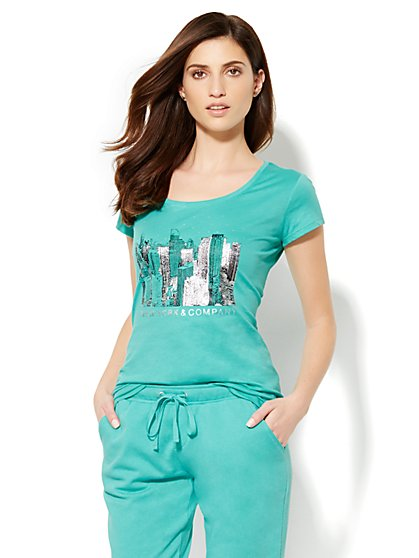Lounge - Sparkling City Tee - New York & Company