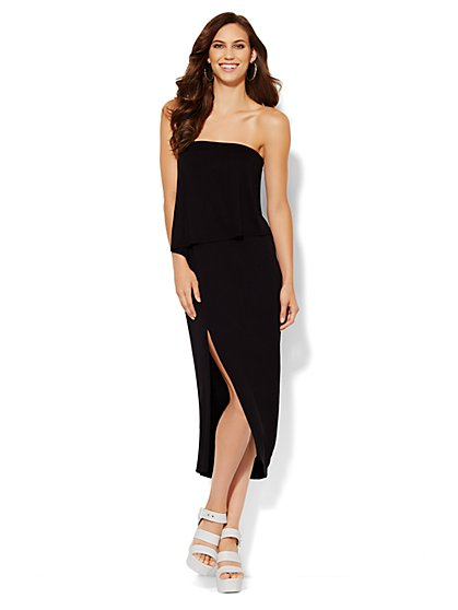 Lounge - Strapless Overlay Dress  - New York & Company