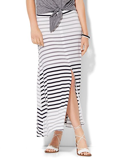 Lounge - Striped Maxi Skirt  - New York & Company