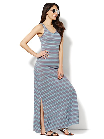 Lounge - Striped Maxi Tank Dress  - New York & Company