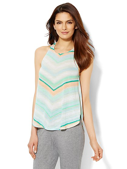 Lounge - Striped Tank Top  - New York & Company