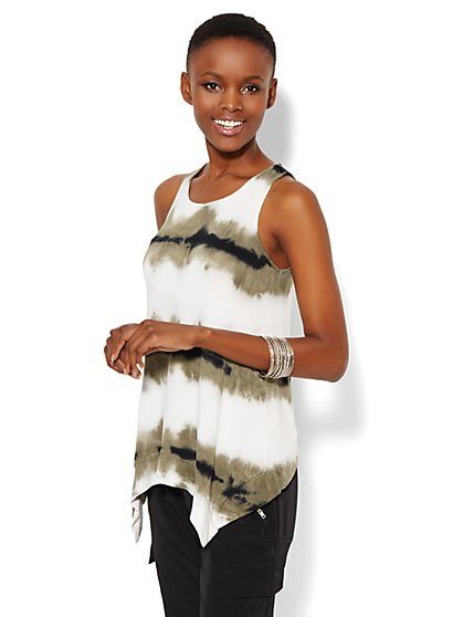 Lounge - Tie-Dye Tank Top  - New York & Company