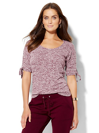 Lounge - Tie-Sleeve Top  - New York & Company