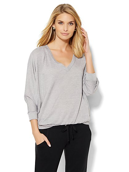 Lounge - V-Neck Dolman Top  - New York & Company