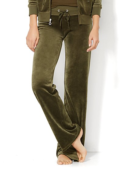 Lounge - Velour Pant - Petite  - New York & Company
