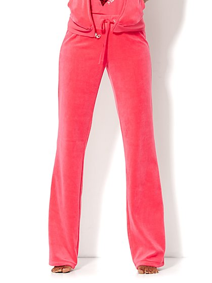 Lounge - Velour Pant - Petite  - New York & Company