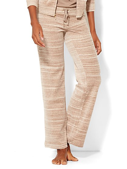 Lounge - Velour Pant - Space Dye - New York & Company