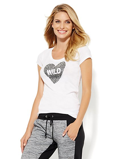 Lounge - Wild Heart Logo T-Shirt  - New York & Company