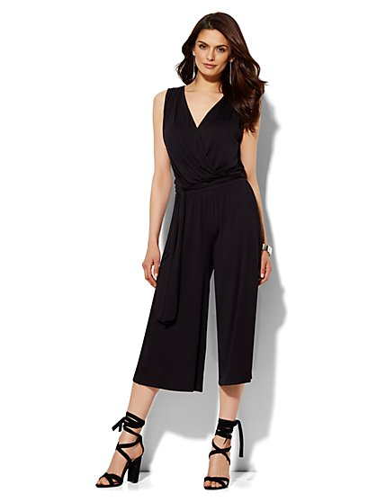 Lounge - Wrap-Front Jumpsuit  - New York & Company