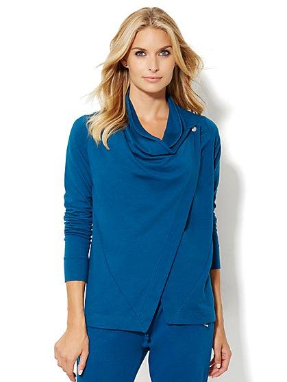 Lounge - Wrap-Front Sweatshirt  - New York & Company
