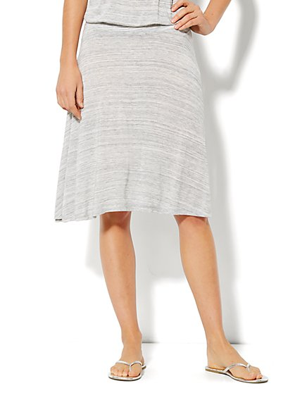 Love, NY&C Collection - A-Line Jaspe Skirt