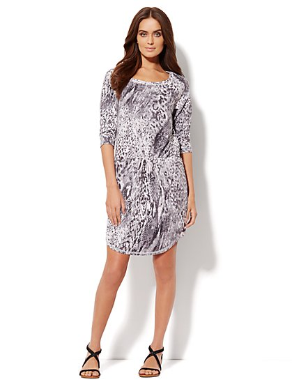 Love, NY&C Collection - Abstract Animal-Print Dress  - New York & Company