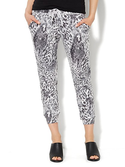 Love, NY&C Collection - Abstract Animal-Print Jogger  - New York & Company
