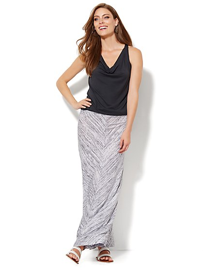 Love, NY&C Collection - Abstract Stripe Maxi Skirt  - New York & Company